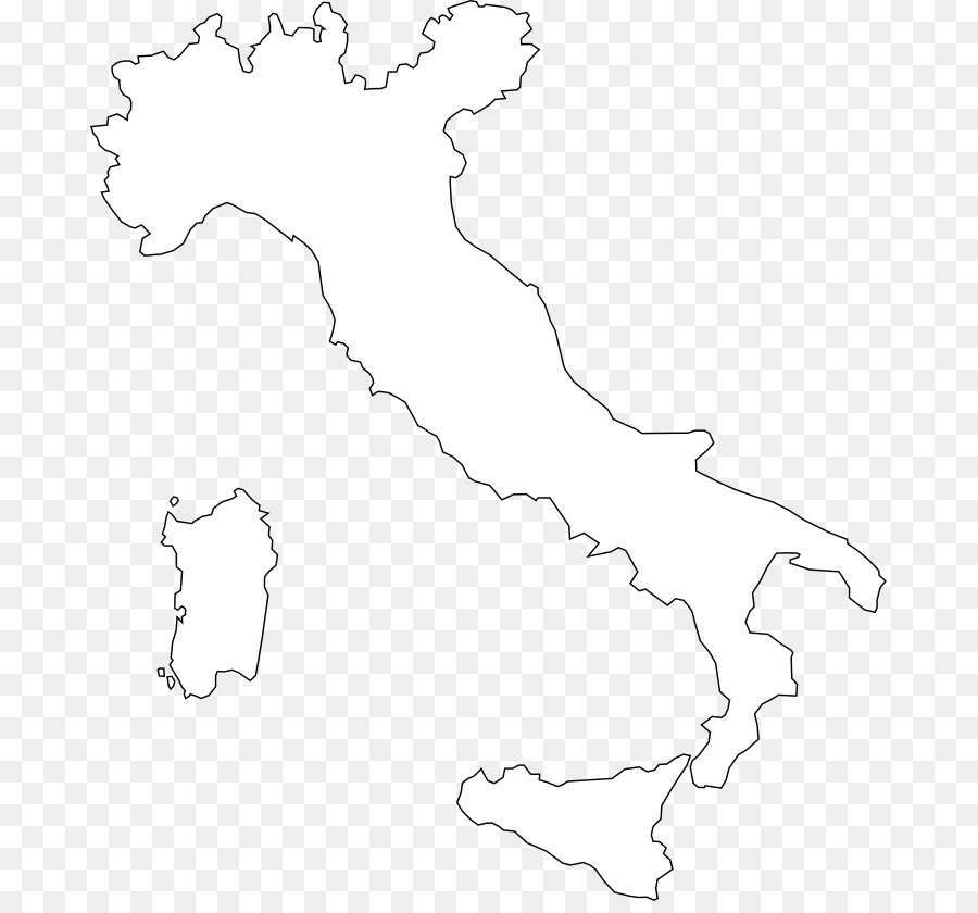 Black And White Map Of Italy.White Tree Png Download 733 829 Free Transparent Camerino Png