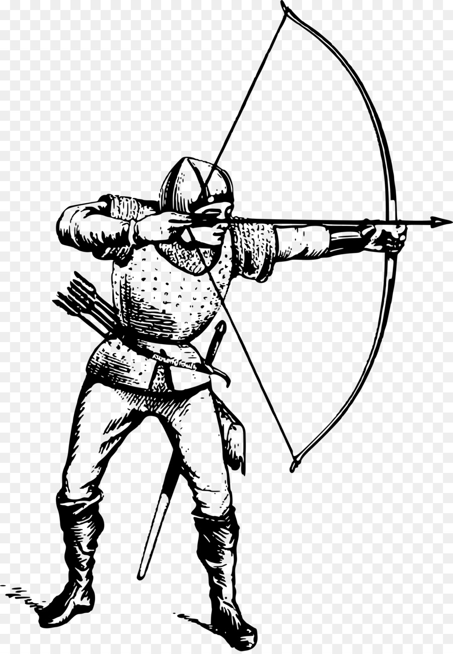 Edad media tiro con Arco y flecha Dibujo Clip art - tiro con arco ...