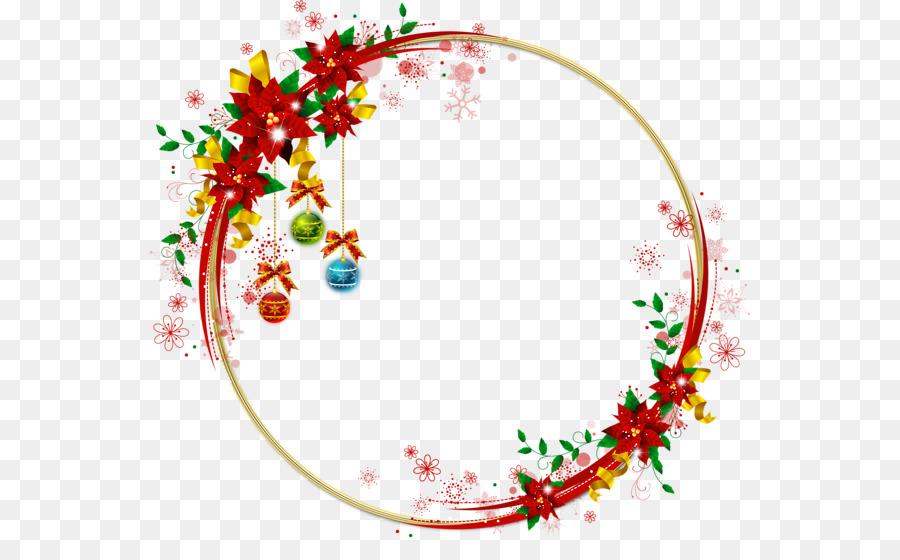 Decoración de la navidad Marcos de fotos de Navidad, ornamento ...