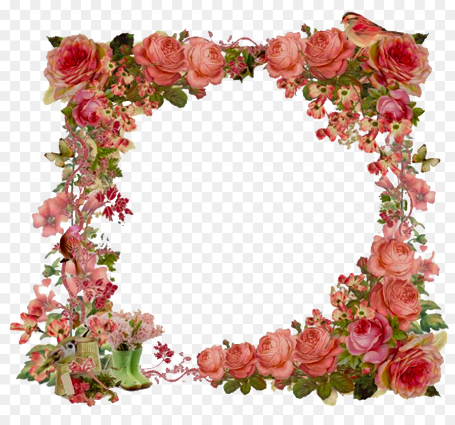Flower Picture Frames Vintage Clothing Shabby Chic Clip Art