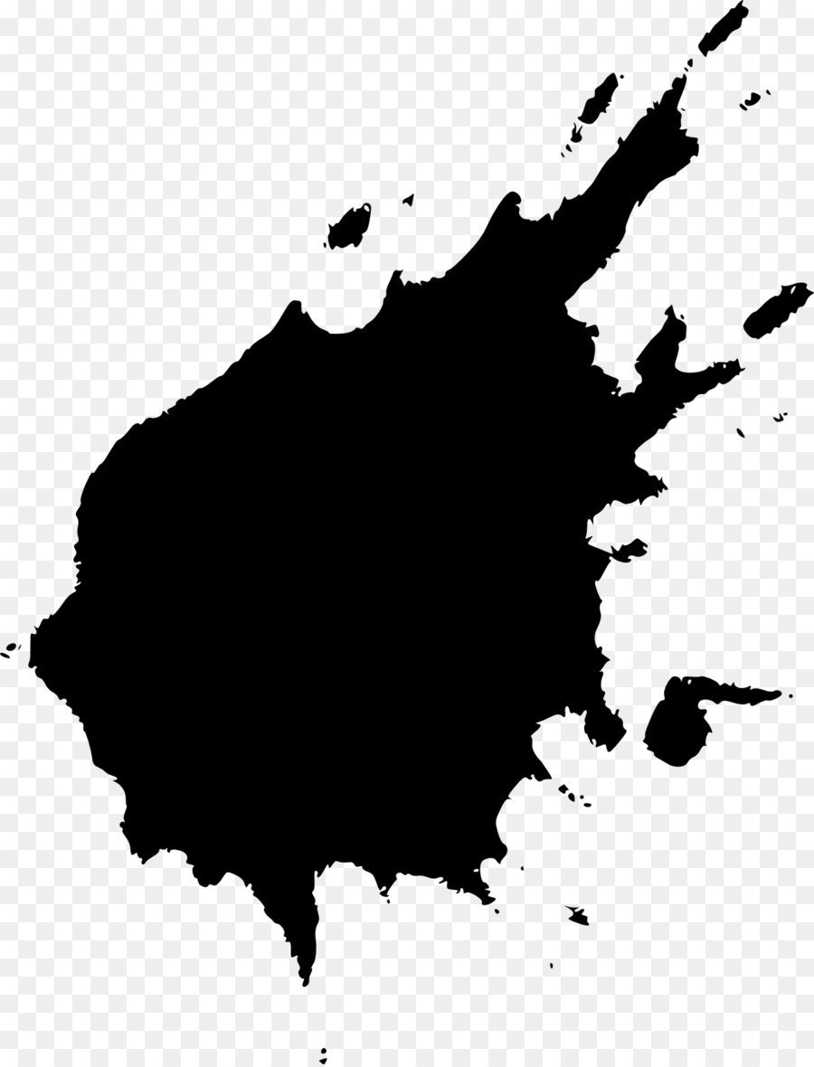 Splatter Paint Art Black And White