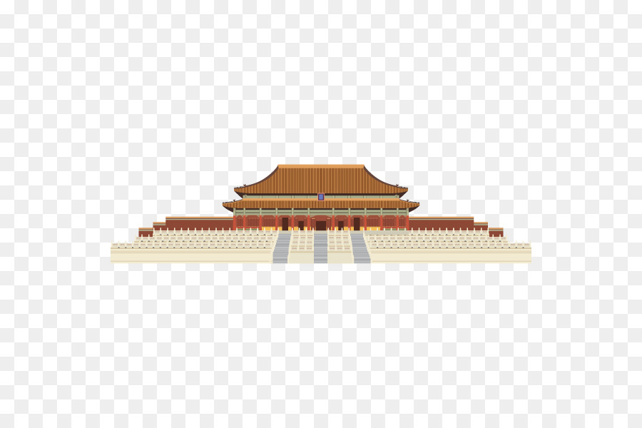 Forbidden City Hall Of Supreme Harmony Building Drawing Chinese