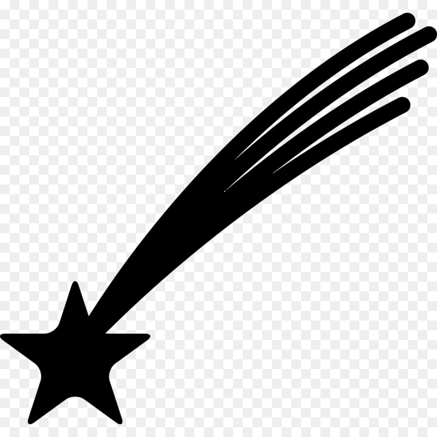 Computer Icons Shooting Stars Clip Art Black Star Png Download