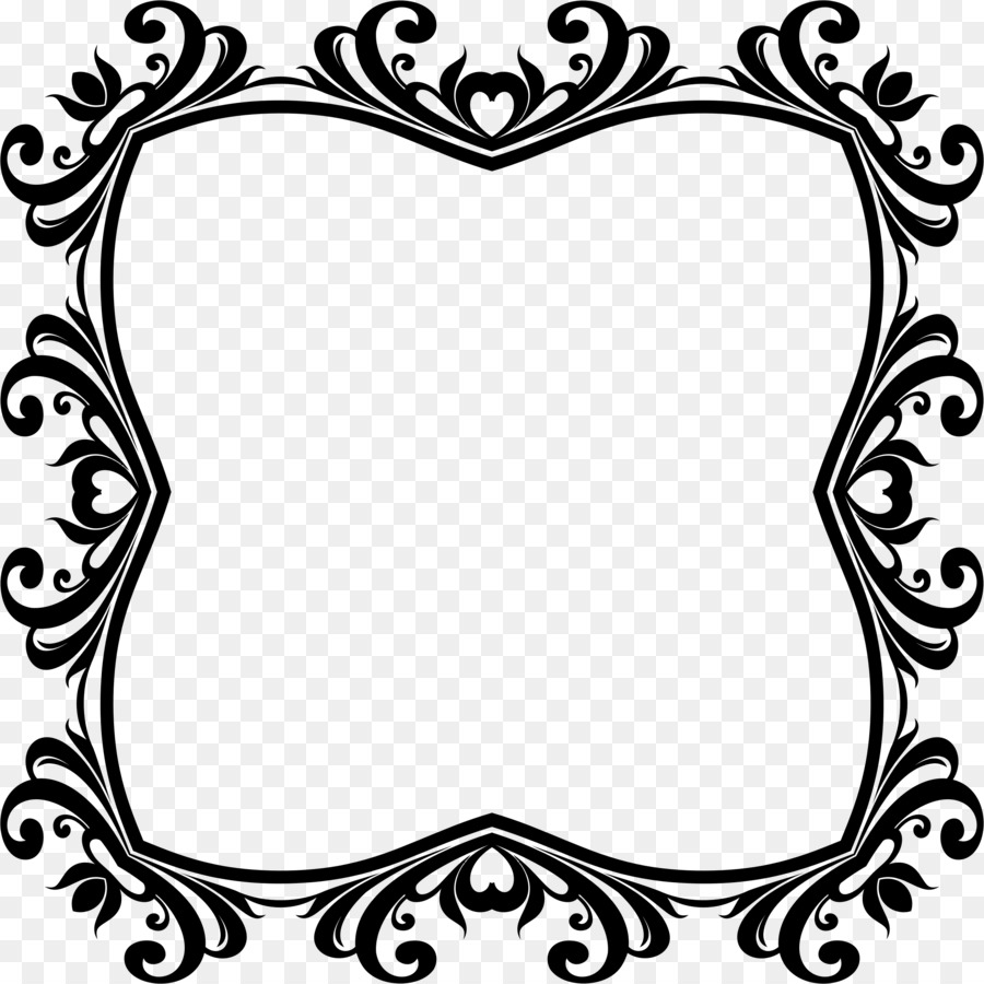 Borders and Frames Picture Frames Black and white Clip art ...