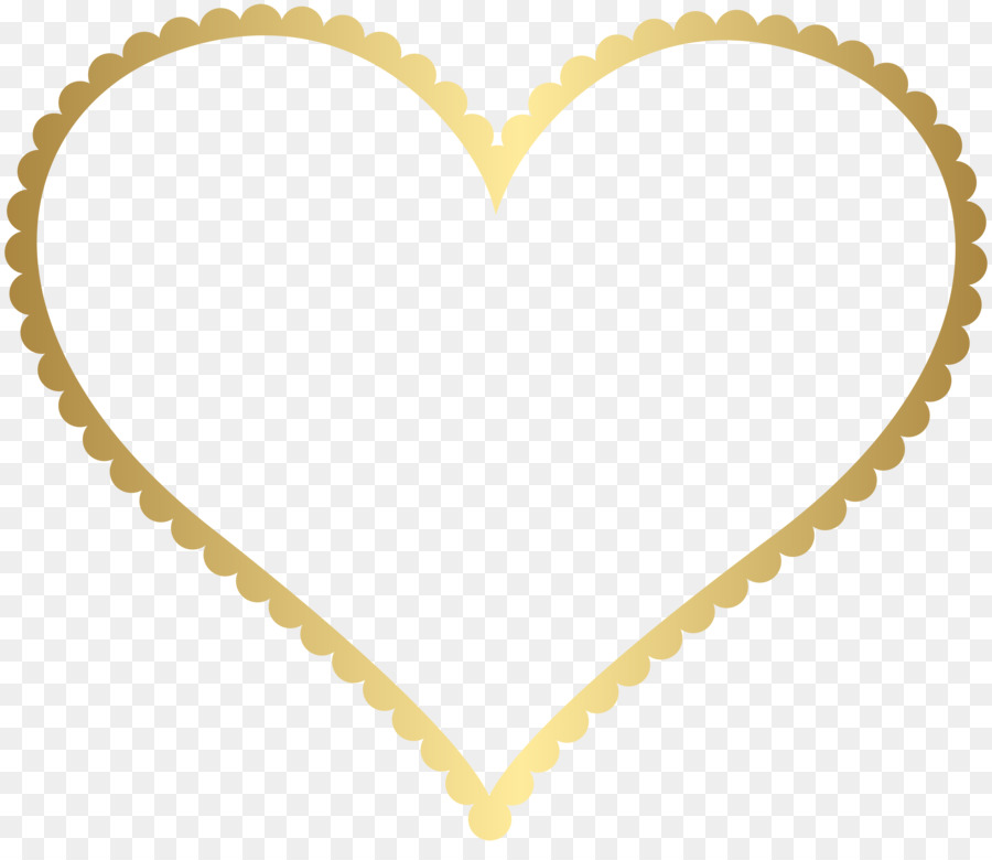 Borders and Frames Picture Frames Heart Clip art - heart gold png ...
