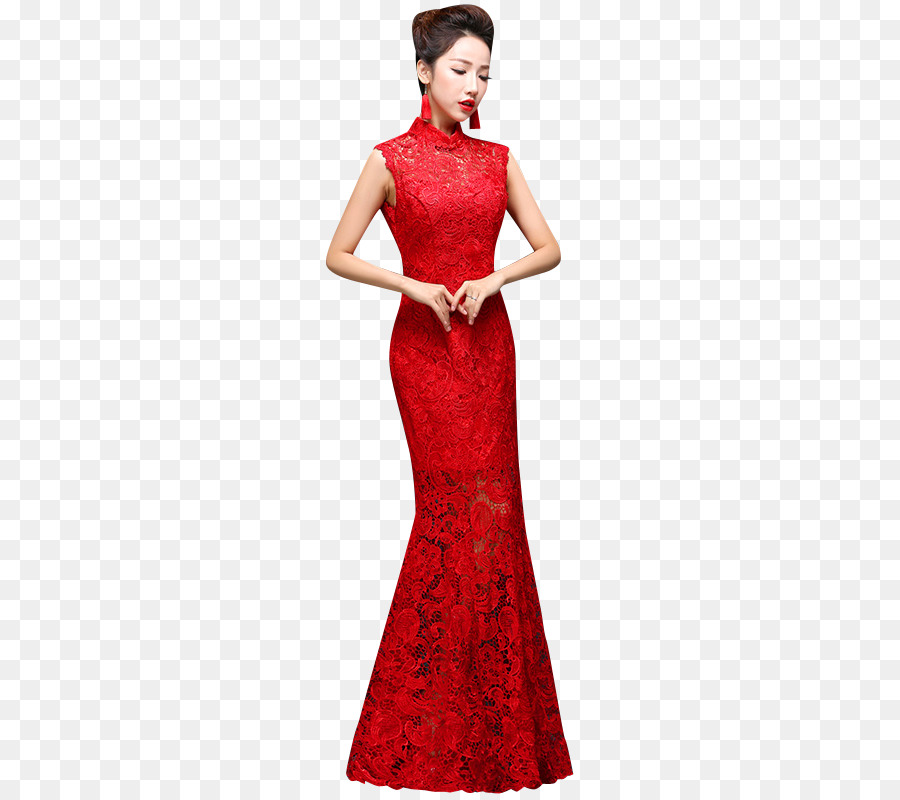Wedding Dress Evening Gown Cheongsam Bride Chinese Wedding Png