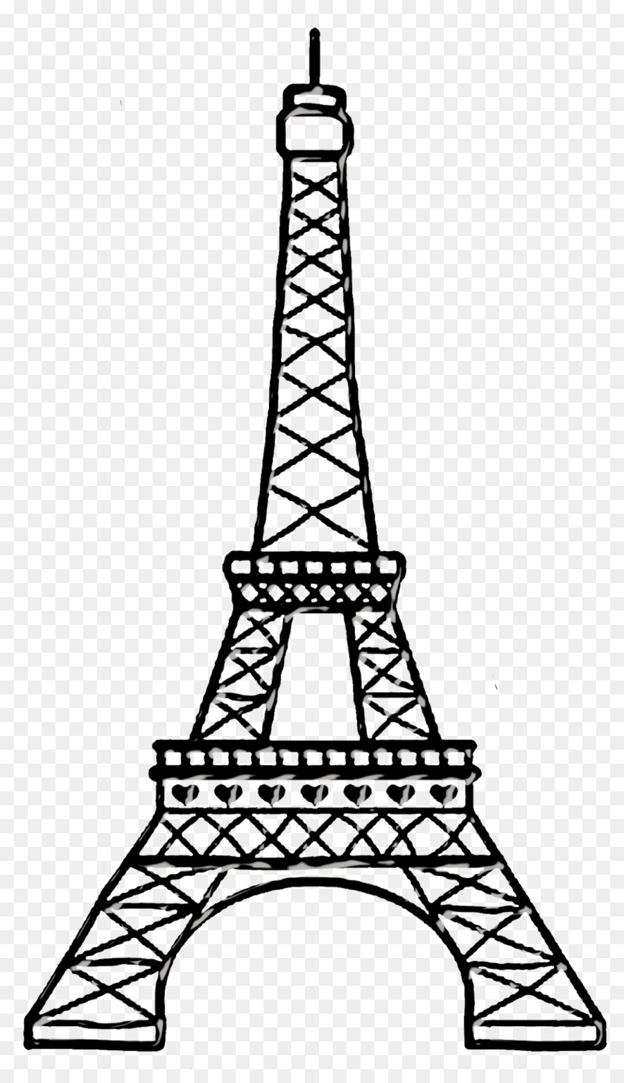 Line Drawing Eiffel Tower : Eiffel tower paper drawing clip art png download