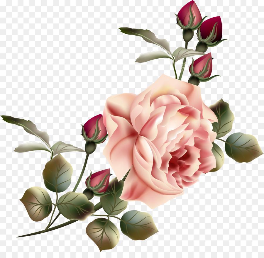 Flower Garden Roses Clip Art Vintage Flowers Png