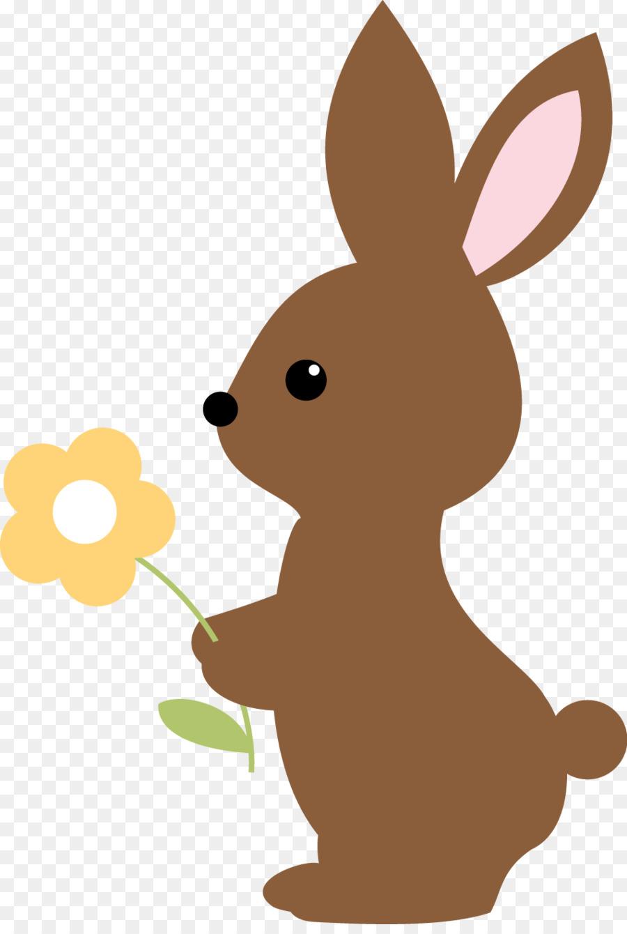 Bunny woodland. Easter background png download