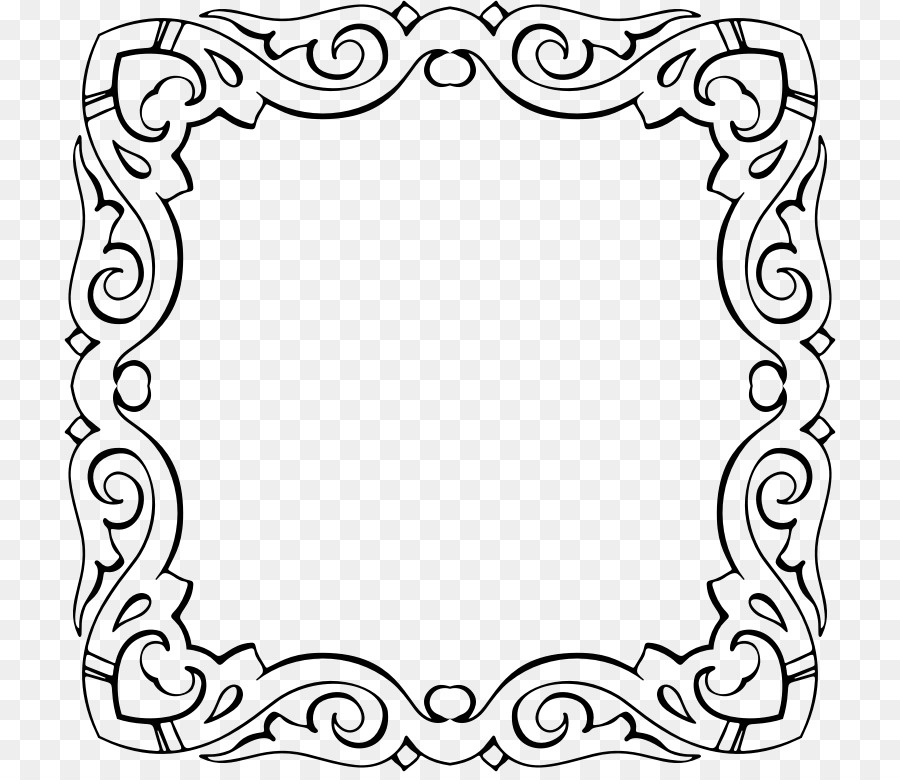 Picture Frames Calligraphy Clip Art