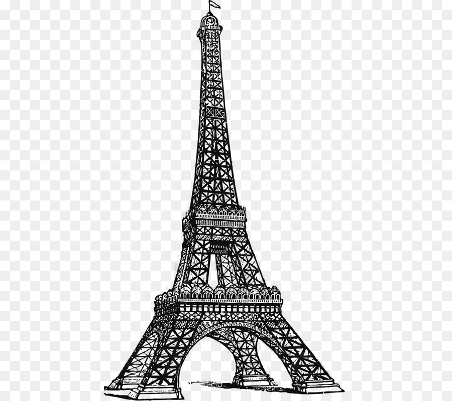 Line Drawing Eiffel Tower : Eiffel tower drawing line art png download
