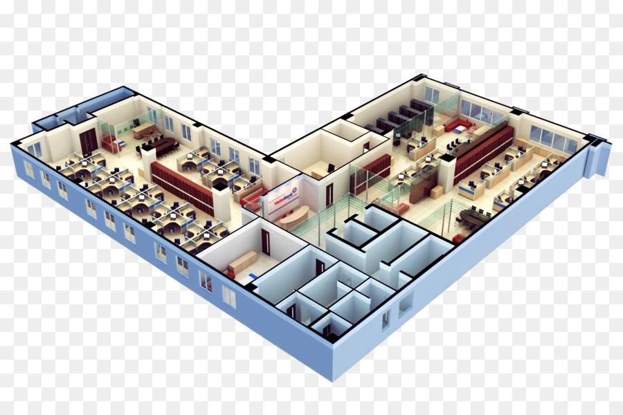 Office 3D Floor Plan House Plan   3d Design