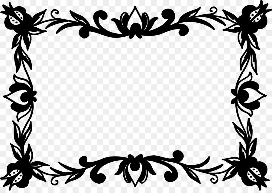 Flower Picture Frames - vector frame png download - 3442*2416 - Free ...