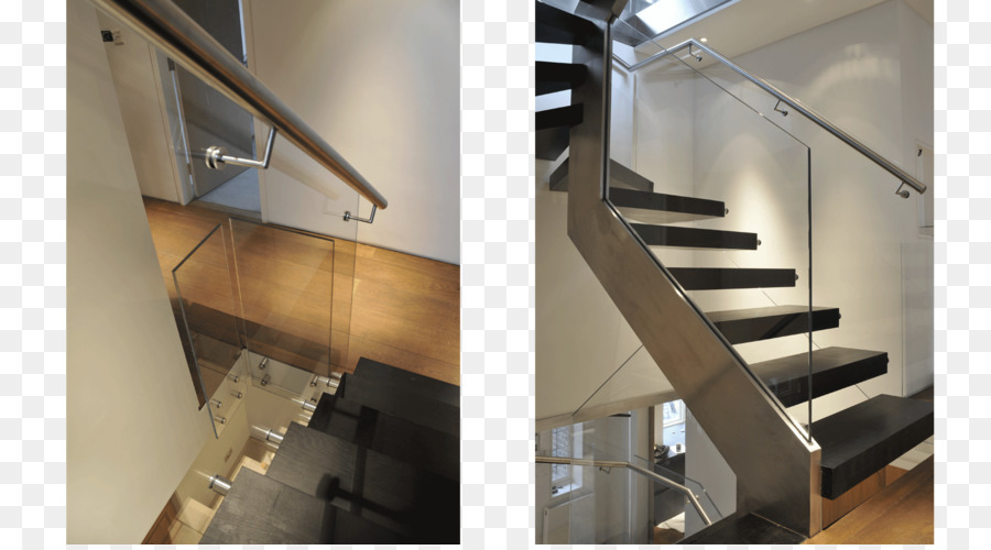 Stairs Handrail Glass Baluster Stainless Steel   Staircase