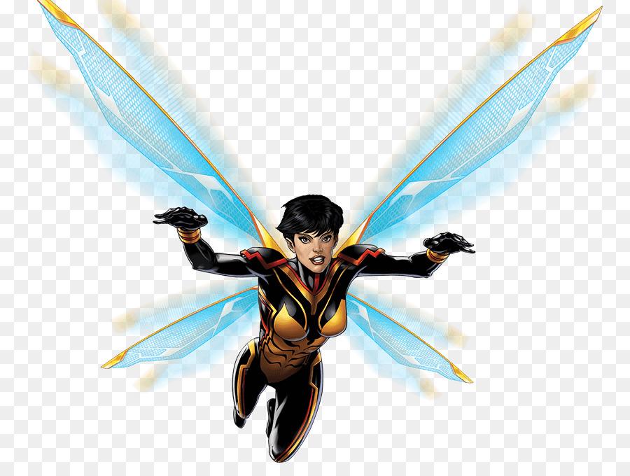 Wasp Umut Pym Kara Dul Hank Pym Carol Danvers - Eşekarısı png indir