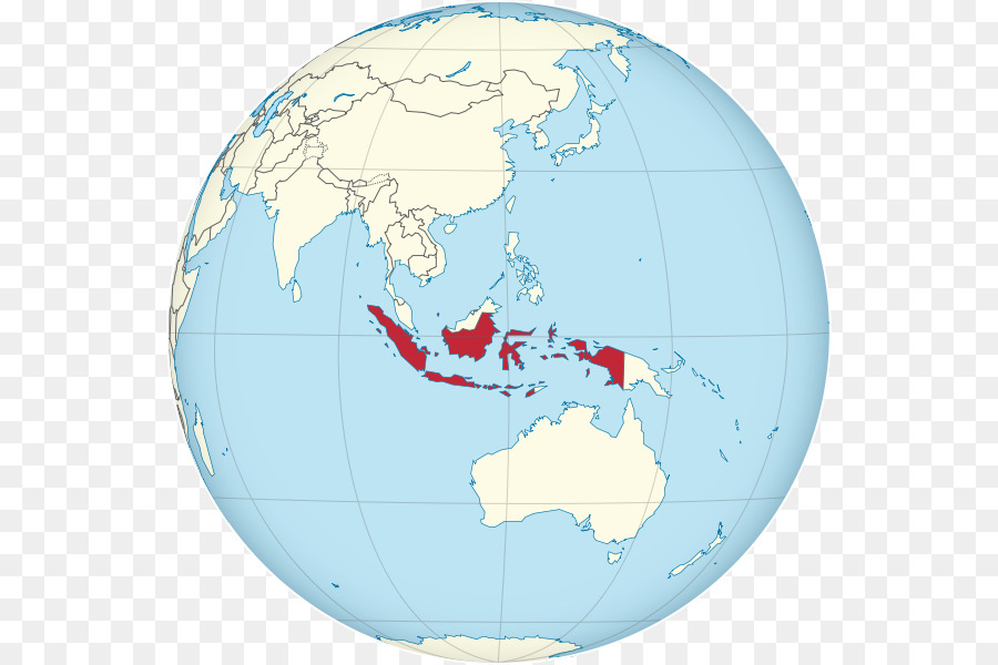 Indonesia Globe World map - indonesia map png download - 600*600 ...