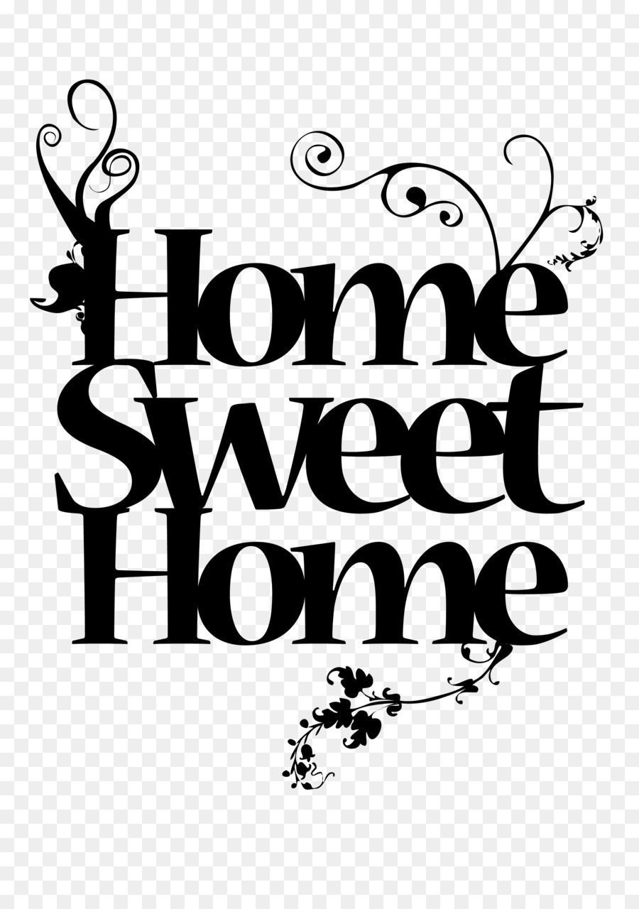 Home Sweet Home House Royalty-free Clip art - saying png download ...