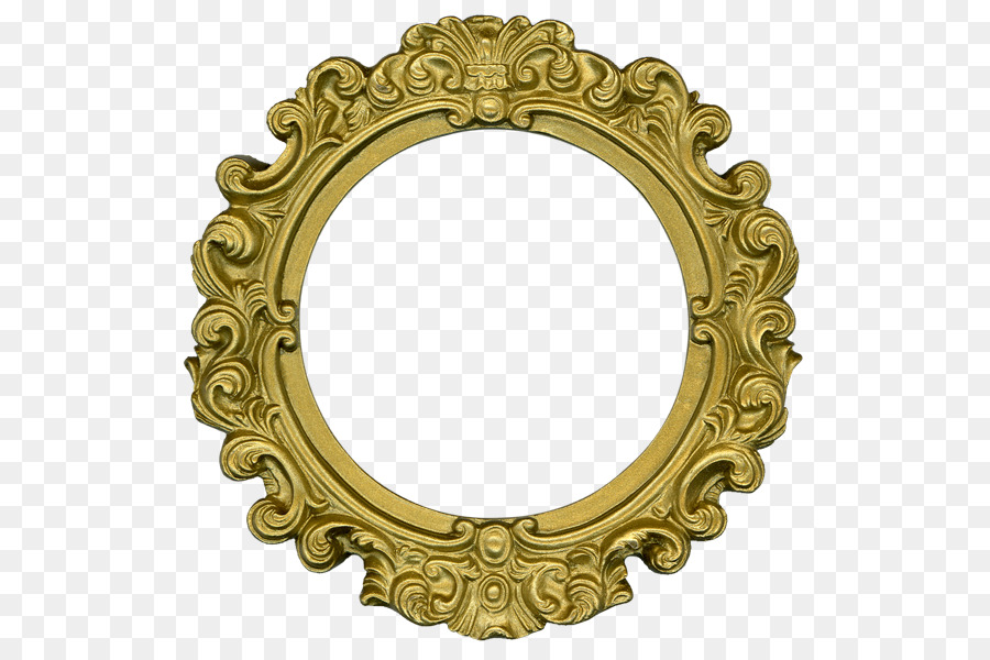 Picture Frames Decorative arts Clip art - round gold png download ...