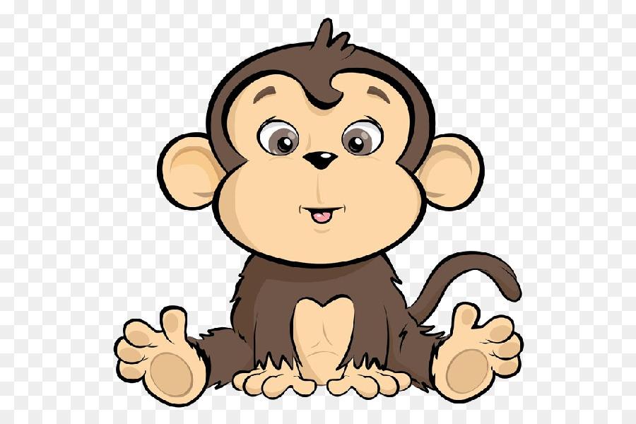 Monkey Cartoon Drawing Clip Art   Baby Animals