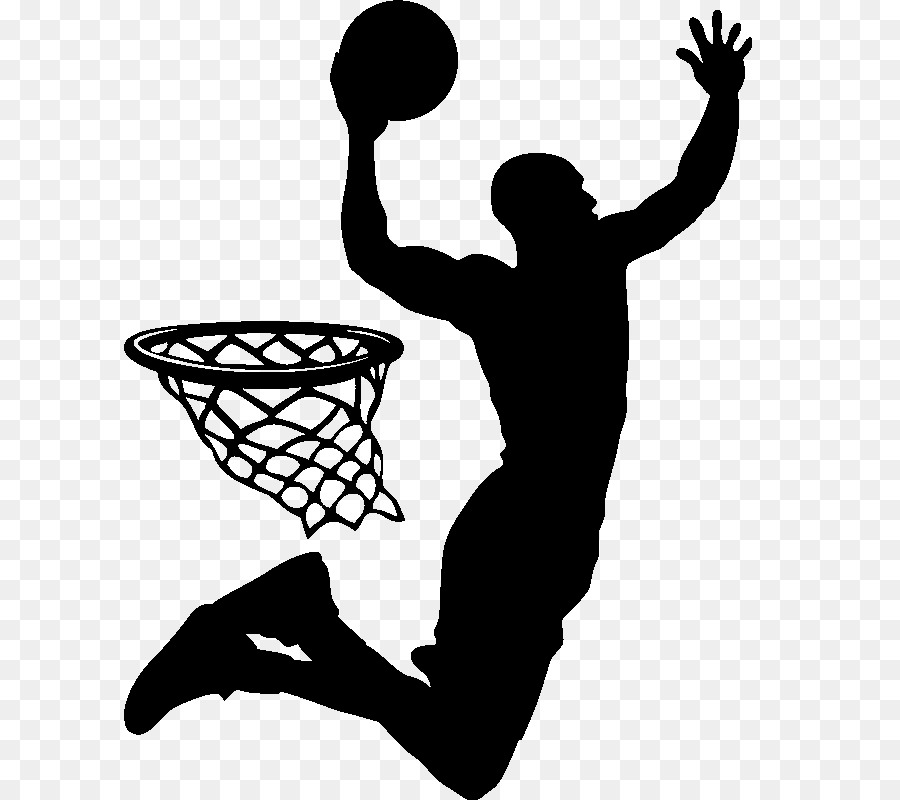 Slam Dunk Basketball Player Silhouette Sport