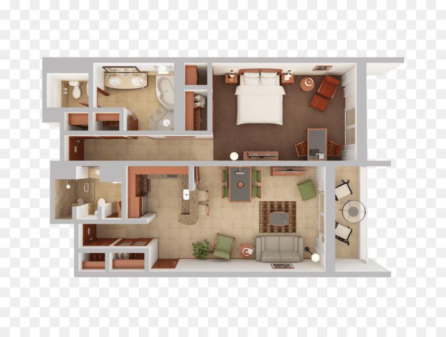 3D Floor Plan House Plan   Bedroom