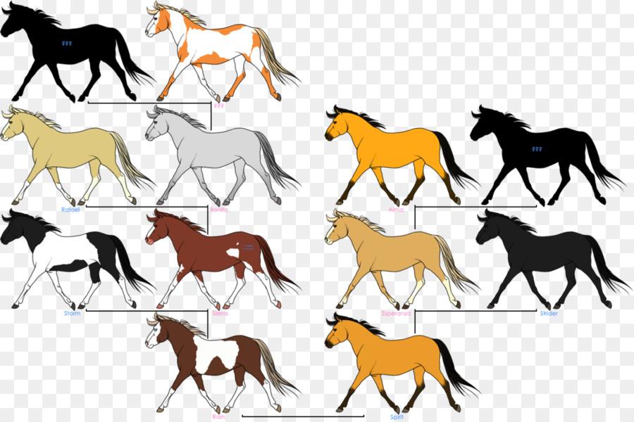 Mustang Caballos de Dibujo de árbol de la Familia de DeviantArt ...