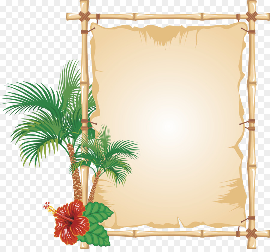 Picture Frames Bamboo Encapsulated Postscript Clip Art Palm Border