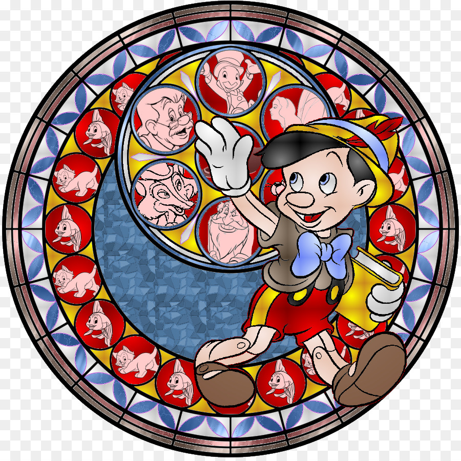 Pinocchio Winnie the Pooh Stained glass DeviantArt Drawing ...