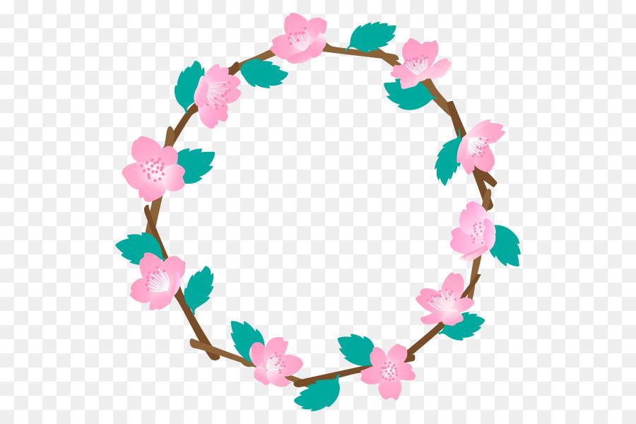 Flower crown circle image.