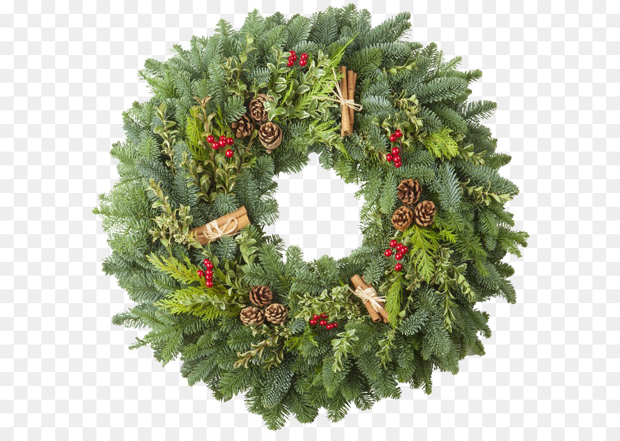 Wreath christmas decoration garland evergreen greenery png