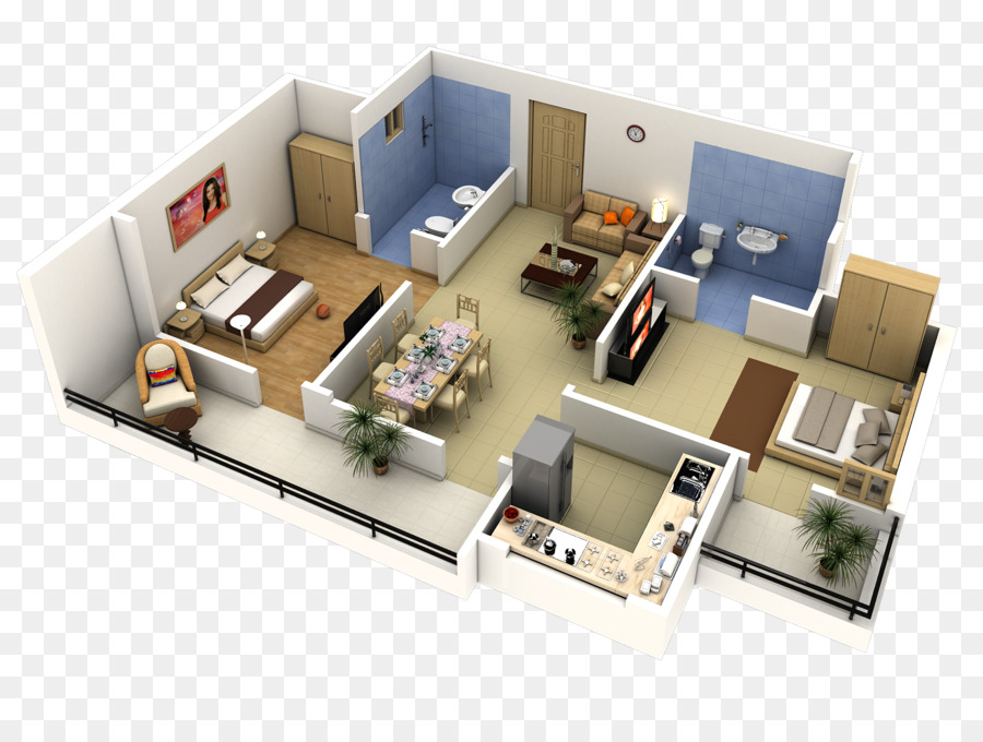 Bedroom House Plan 3D Floor Plan   3d Design
