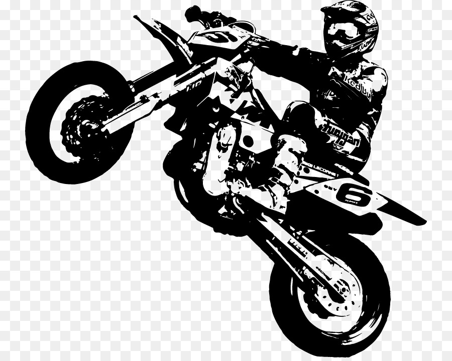 Supermoto Ktm Wall Decal Motorcycle Sticker Motor Png