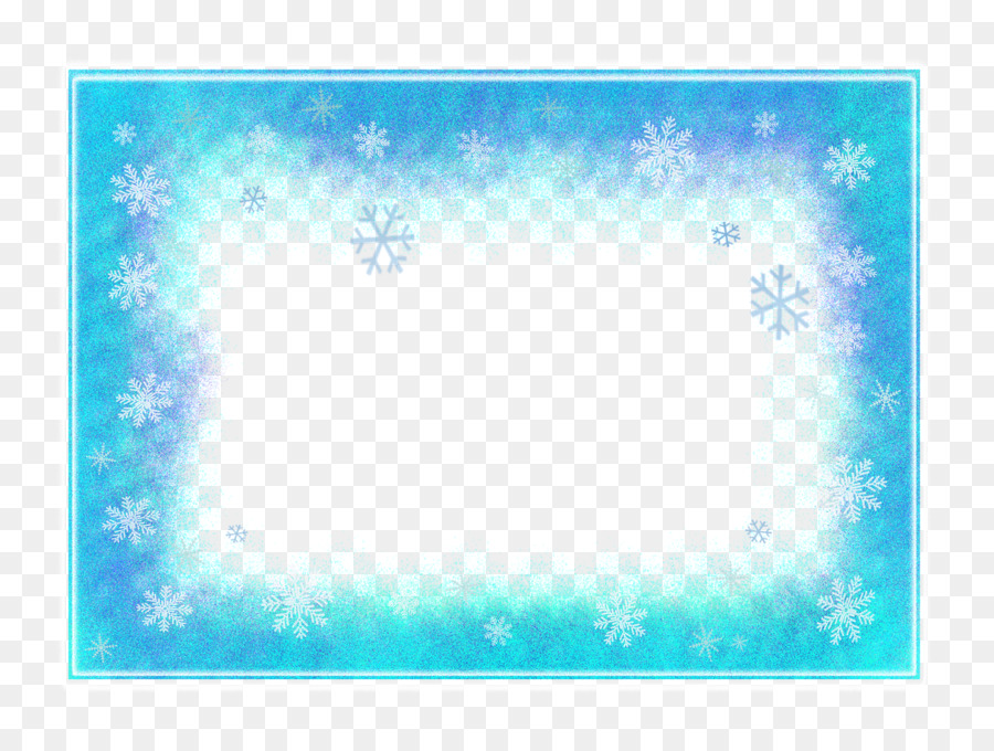 Elsa Picture Frames Snowflake Winter - teal frame png download ...