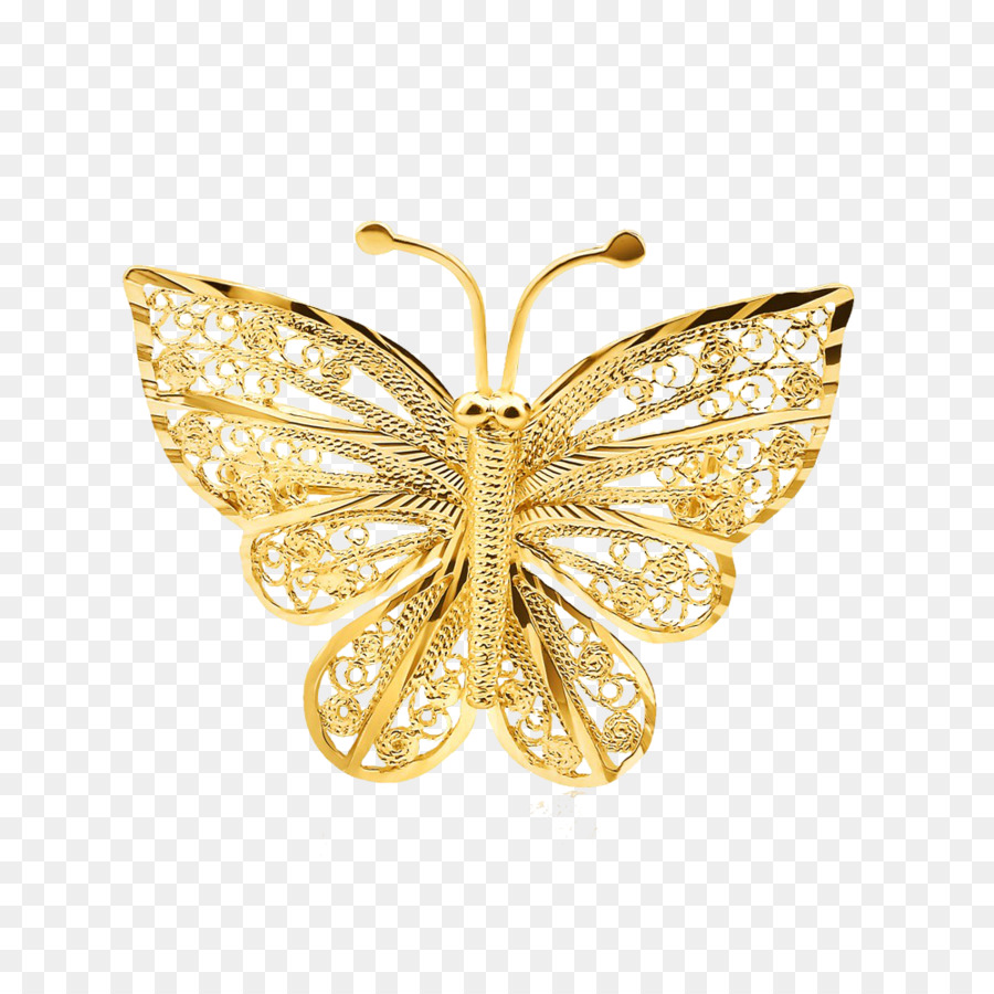 Butterfly Gold Jewellery Clip art - gold lace png download - 1000 ...