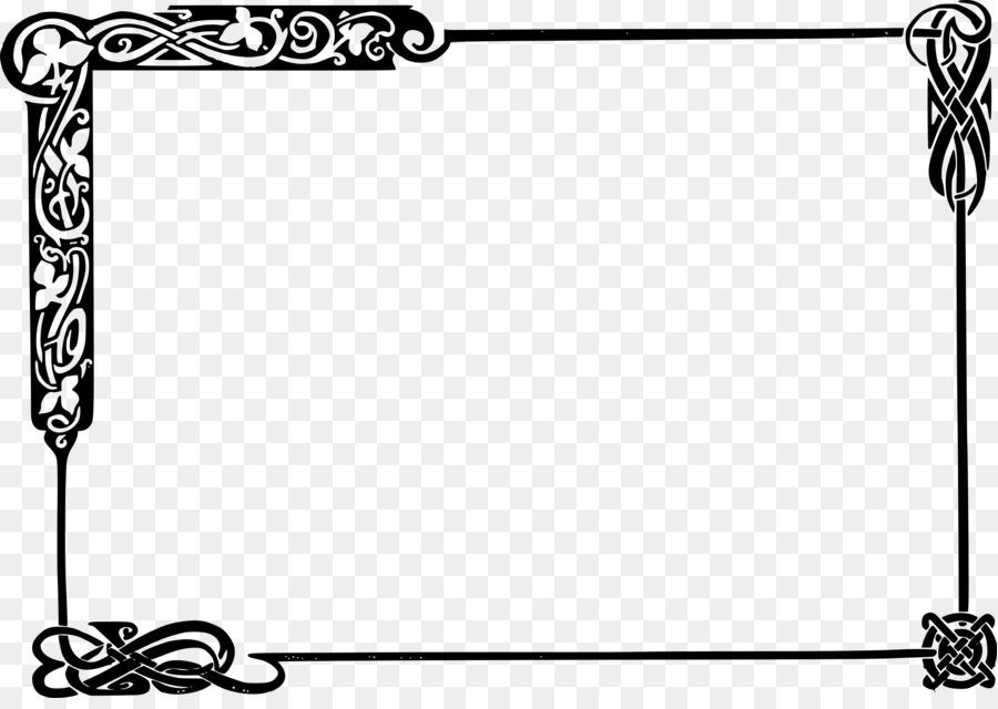 Celts Celtic knot Picture Frames Clip art - border line png download ...