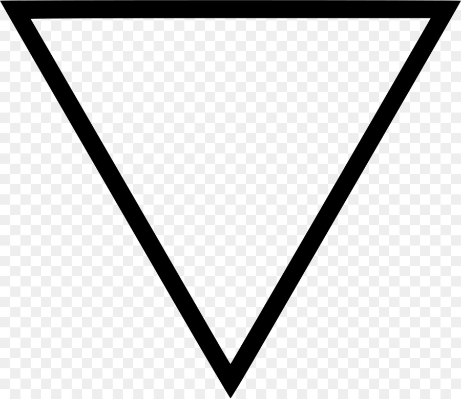 Black Triangle Symbol Meaning Yantra Triangle Png Download 980