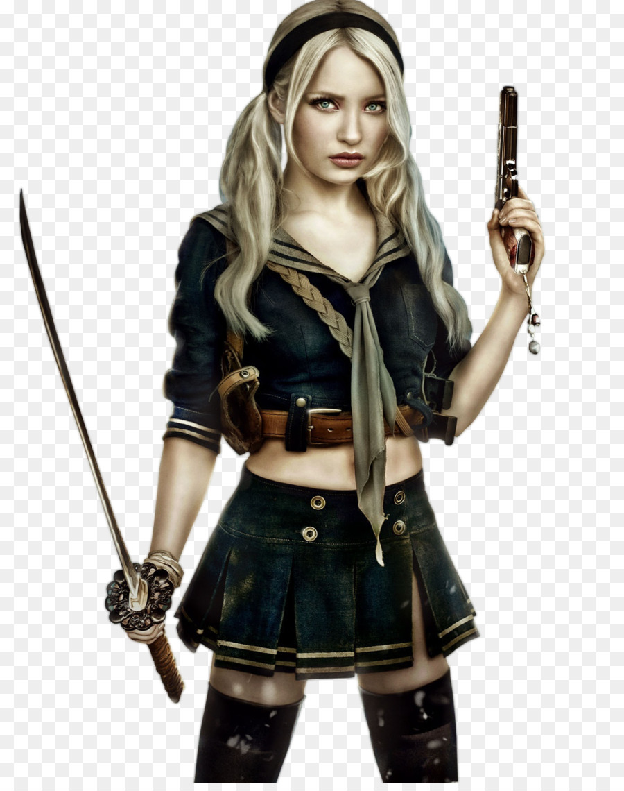 emily browning sucker punch cosplay babydoll costume - punch png