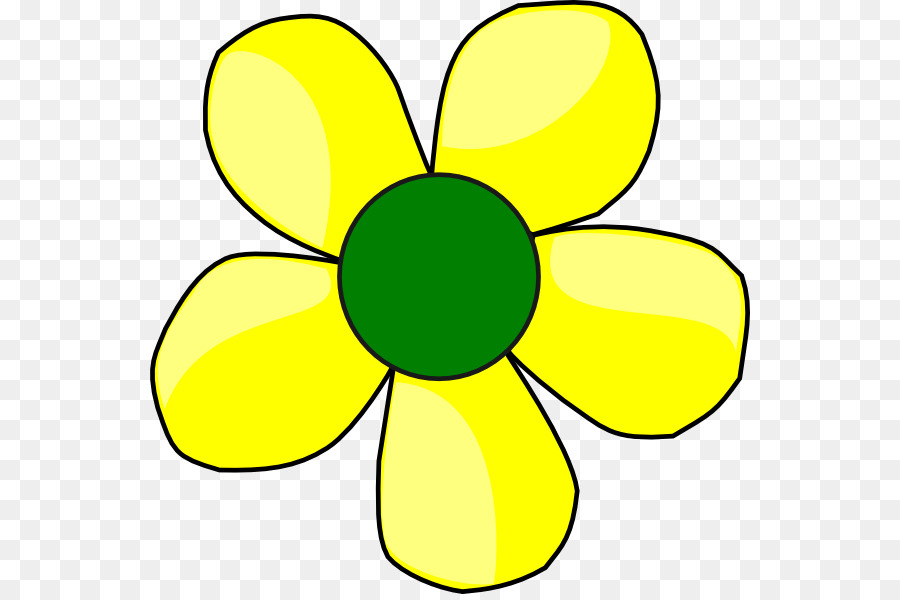 Flower Yellow Clip Art Yellow Flowers Png Download 600594