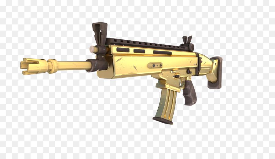 Fortnite Battle Royale Weapon Firearm Fn Scar Weapon Png
