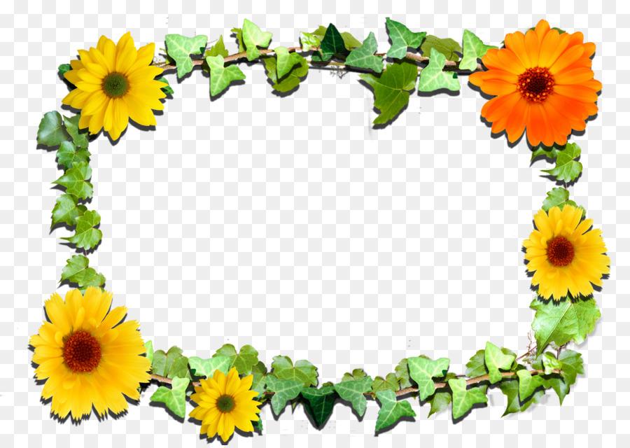 Picture Frames Flower Clip art - sunflower leaf png download - 3510 ...
