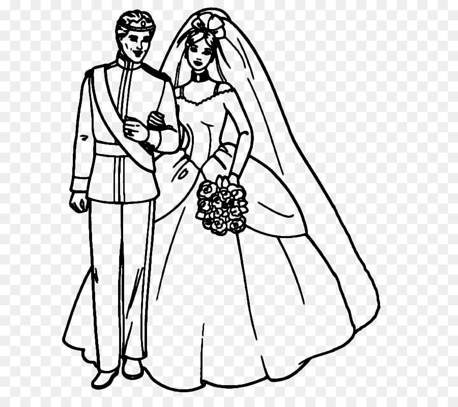 Coloring Book Bridegroom Wedding Page Bride Groom Png Download