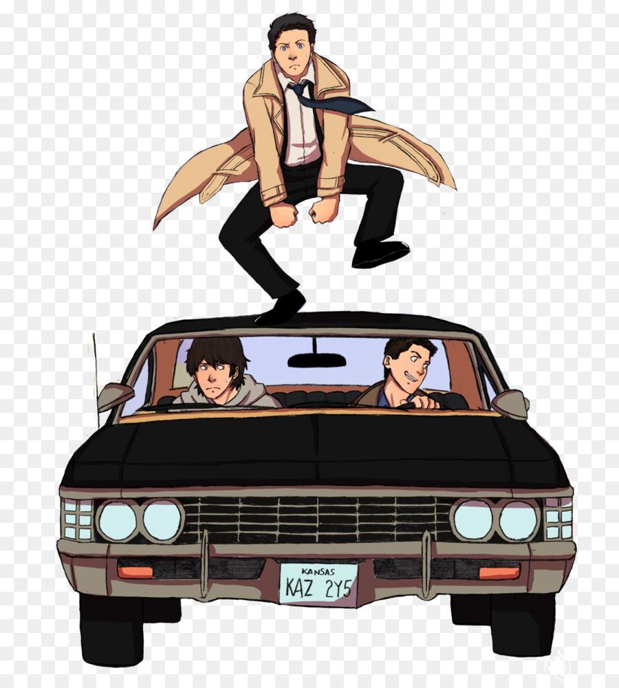 Tshirt Castiel Dean Winchester Chevrolet Impala Crowley - Supernatural show car