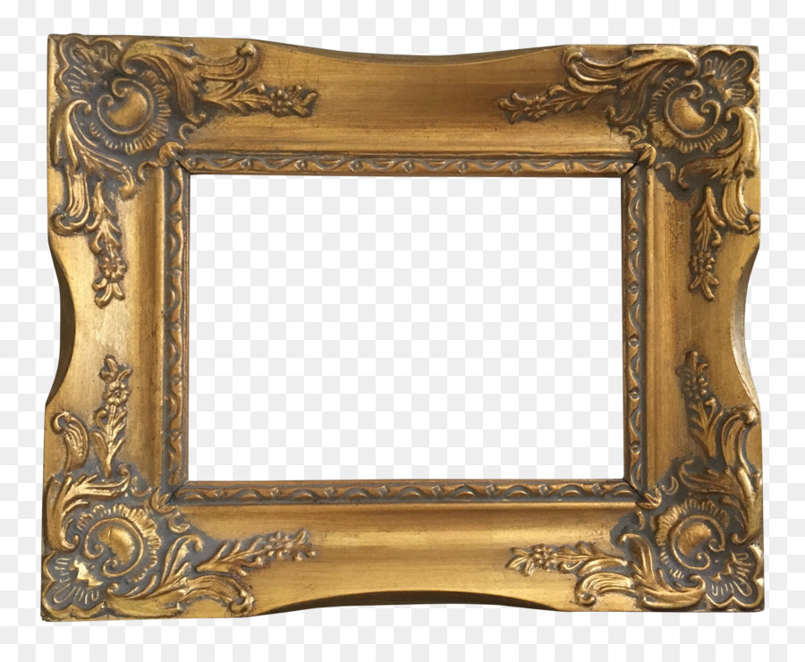Picture Frames Mirror Window Light - vintage gold png download ...