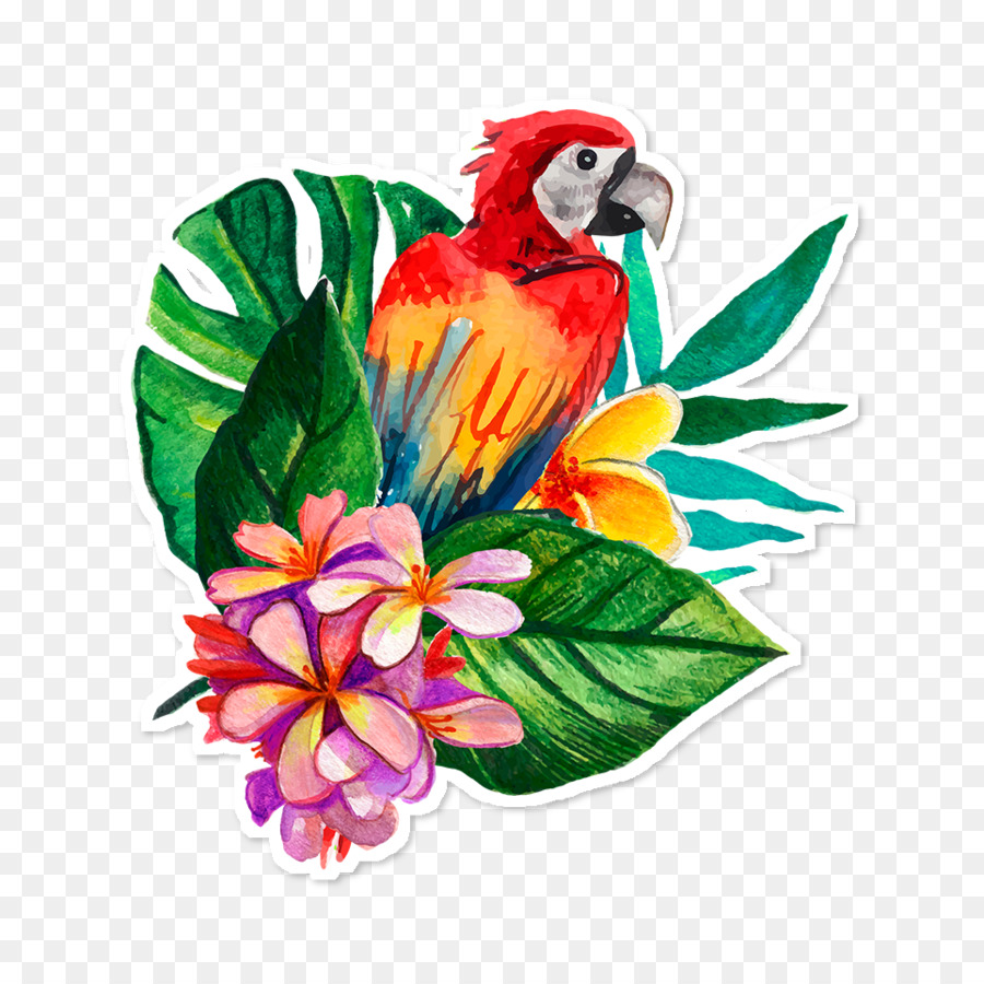 Art Paper Flower Floral Design Notebook Tropical Png Download