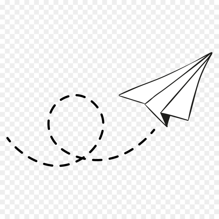 Airplane Paper Plane Dotted Line Download 1000