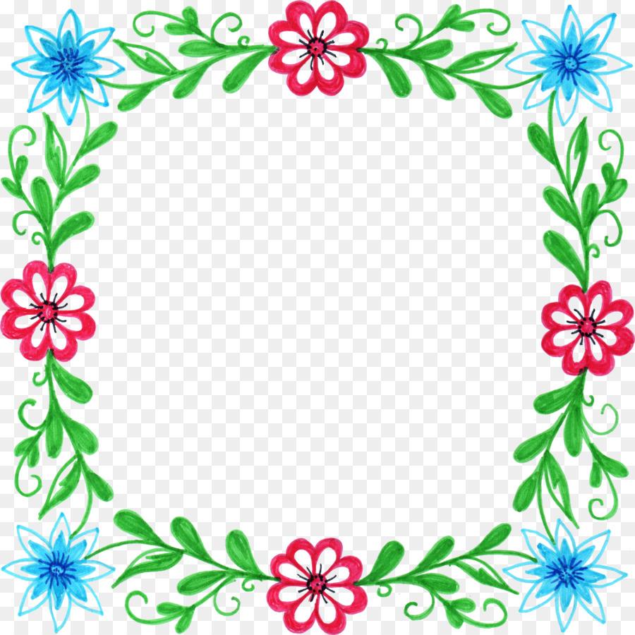 Flor de Marcos de diseño Floral Clip art - marco floral Formatos De ...
