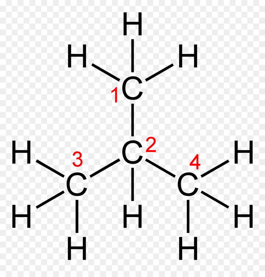 Isobutane Molecule Chemical Formula Structural Formula Chemical