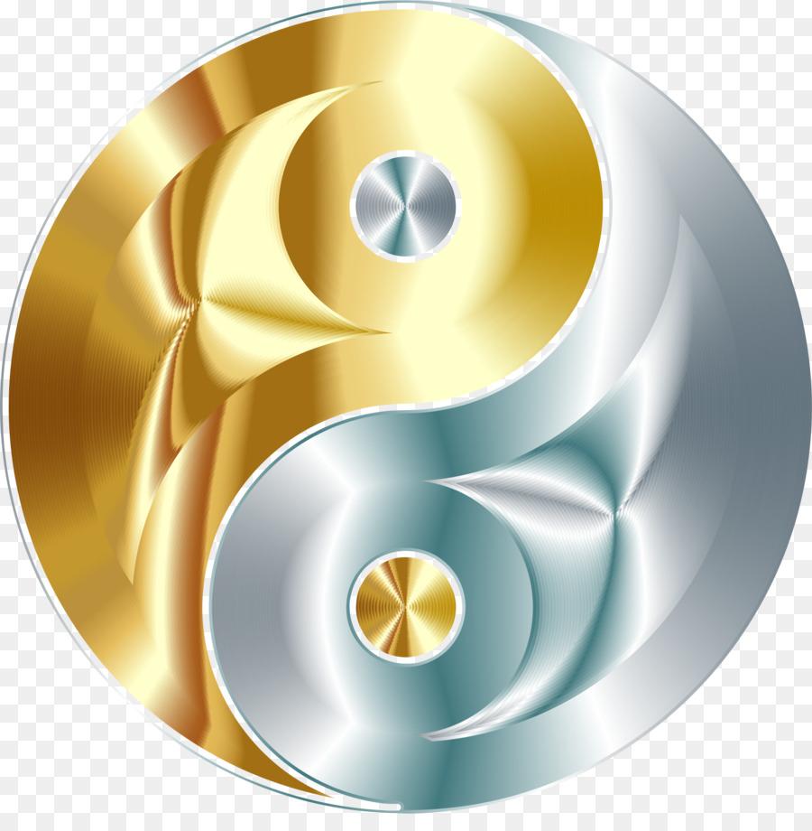 Yin And Yang Gold Silver Symbol Clip Art Yin Yang Png Download