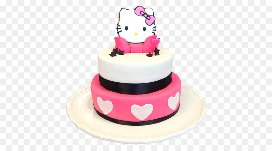 Birthday Cake Hello Kitty Cupcake Bakery Torte 1st Birthday Png