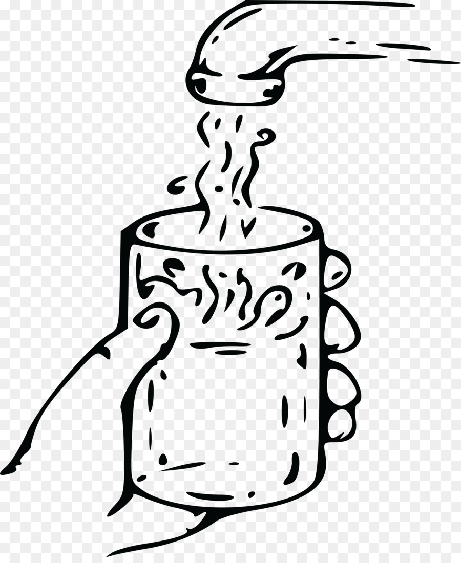 Water Glass Black and white Clip art - water glass png ...